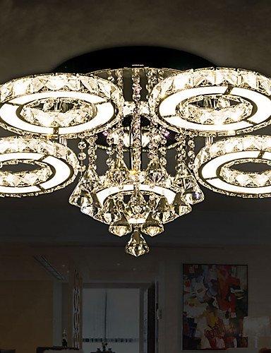 WCG Round Crystal Lamp Modern Atmosphere Living Room Lamp LED Ceiling Lamp Creative Bedroom Lamps 8804  white-90-240v