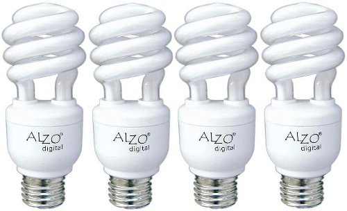ALZO 15W Joyous Light Full Spectrum CFL Light Bulb 5500K 750 Lumens 120V Pack of 4 Daylight White Light Model 1855-55-04-JL Tools Hardware store