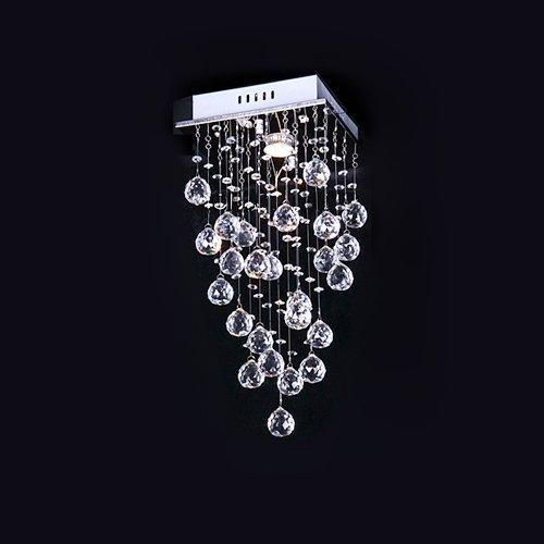 Lightinthebox Dainty Stylish 1 Light Flush Mount In Crystal Decoration Modern Home Ceiling Light Fixture Flush