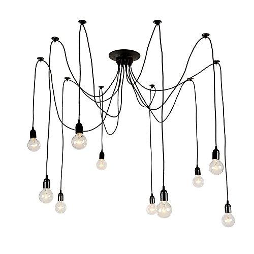 Lnc Industiral E26 Artistic Chandeliers With 10 Lights Bulbs Design Modern Home Ceiling Light Fixture Flush Mount