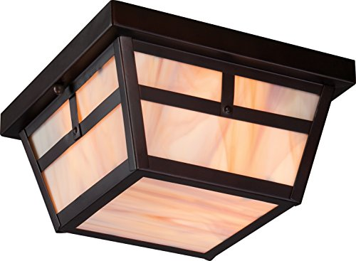 Nuvo Lighting 605676 Tanner Flush 2 Light 60-watt A19 Outdoor Close To Ceiling Porch And Patio Lighting With