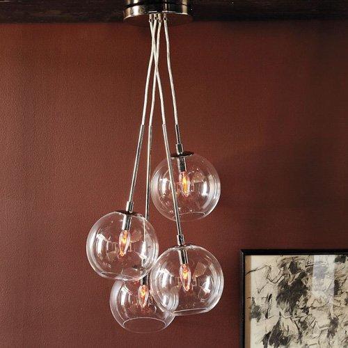 Lightinthebox 60w Artistic Modern Pendant With 4 Lights In Glass Bubble Design Modern Home Ceiling Light Fixture