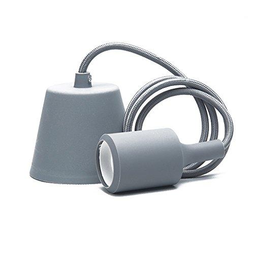 OYGROUP Modern Ceiling Light Silicone Lamp Holder for Showcase Restaurant Cafe Bar Shop Childs Room Gray