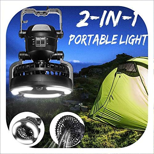 Mode 2 18 Led 2 In 1 Camping Ceiling Fan Light Pendant Tent Lamp Outdoor Lantern Tent Light Fan