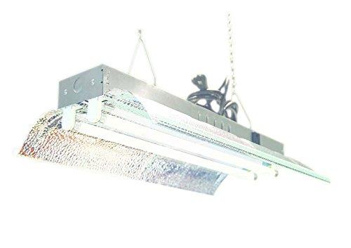 T5 Ho Grow Light 2 Ft 2 Lamps Dl822 Fluorescent Hydroponic Fixture Bloom Veg Grow Light System 6500k Bulbs