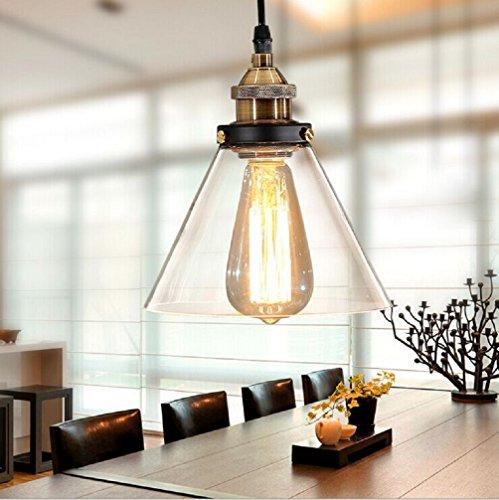 Aiwen Horn Glass Chandelier Pendant Light Ceiling Lamp  Bulbs not Included  Clear
