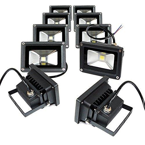 Etoplighting Blef12v10dl-10p 10 Pack Outdoor Led Flood Light 12v 10w Bright Energy Saving Security Lamp Cool White