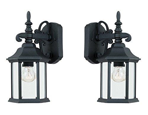 Designers Fountain 2961-BK Devonshire Wall Lanterns Black 2 Pack