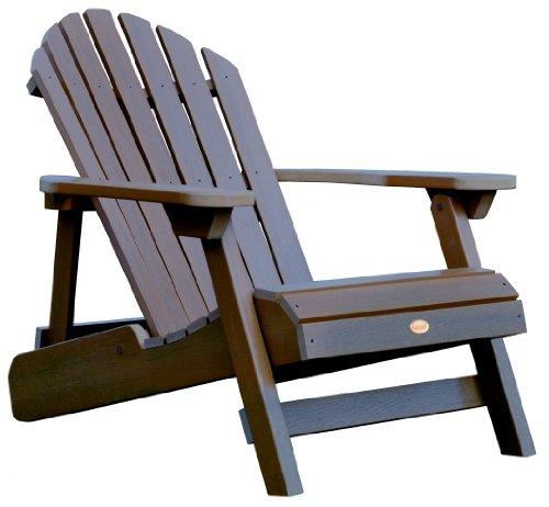 Highwood Hamilton Folding And Reclining Adirondack Chair Adult Size Weathered Acorn