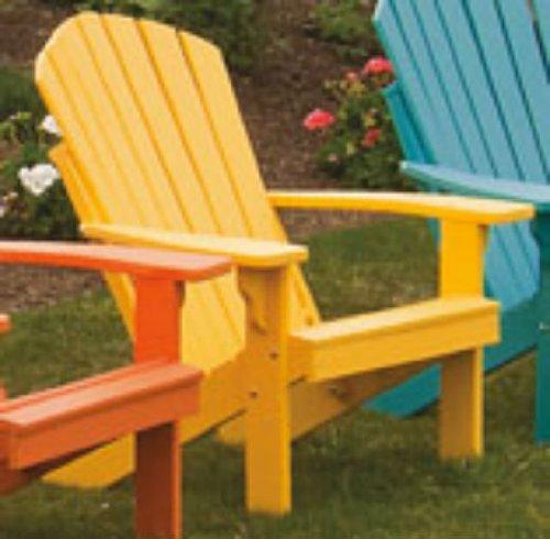 Poly Foldingamp Reclining Adirondack Chair - Amish Made Usa - Lemon Yellow