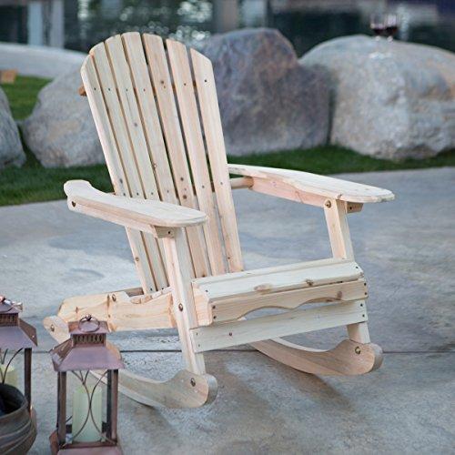 Coral Coast Adirondack Rocking Chair Natural