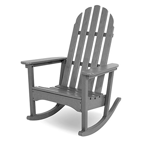POLYWOOD Recycled Plastic Classic Bimini Adirondack Rocking Chair