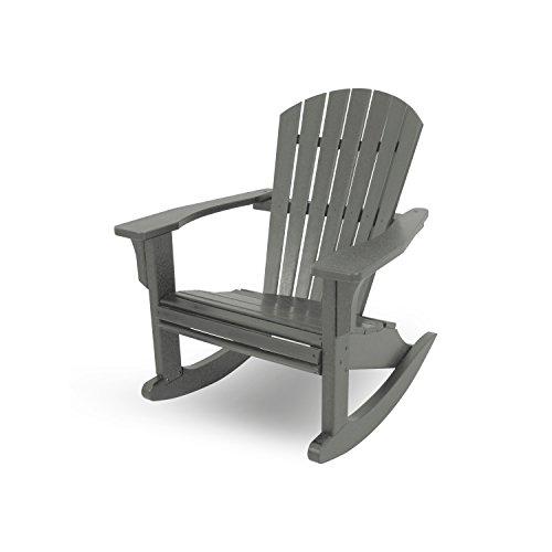 Seashell Adirondack Rocking Chair Finish Slate Grey