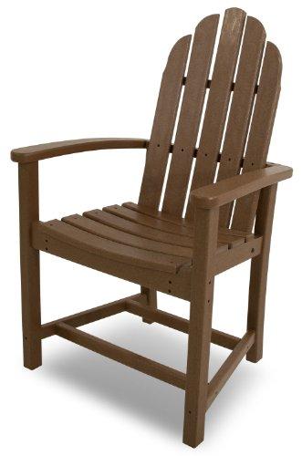 POLYWOOD ADD200TE Classic Adirondack Dining Chair Teak