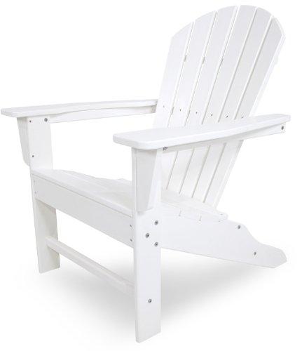 POLYWOOD SBA15WH South Beach Adirondack Chair White