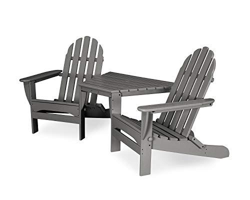 POLYWOOD TT4040GY Adirondack Chair Slate Grey