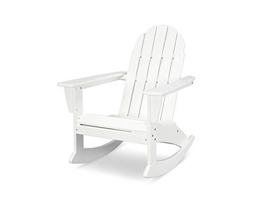 POLYWOOD Vineyard Adirondack Rocking Chair White