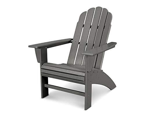 POLYWOOD Vineyard Curveback Adirondack Chair Slate Grey