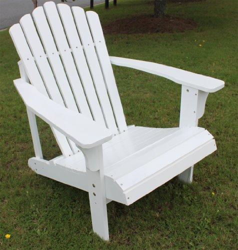 7 Slat White Painted Hardwood Adirondack Chair