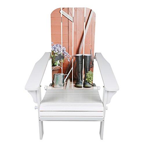 Accents Unlimited White Adirondack Chair w Garden Scene Graphics