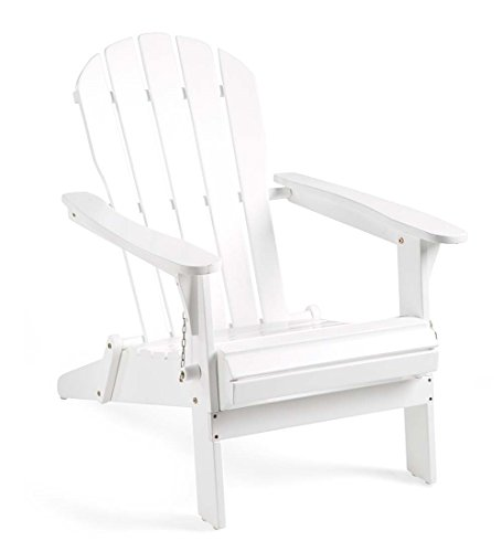 Plow Hearth Wood Adirondack Chair White