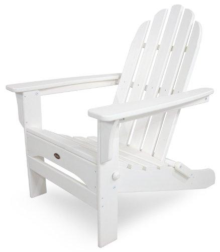 Trex Outdoor Furniture Cape Cod Folding Adirondack Chair Classic White