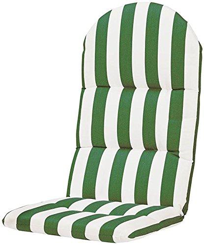 Bullnose Adirondack Outdoor Chair Cushion 2&quothx205&quotwx49&quotd Maxim Emerald Sunbrella