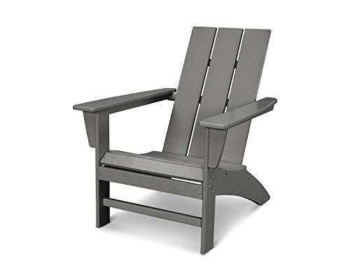 POLYWOOD AD420GY Modern Adirondack Chair Slate Grey