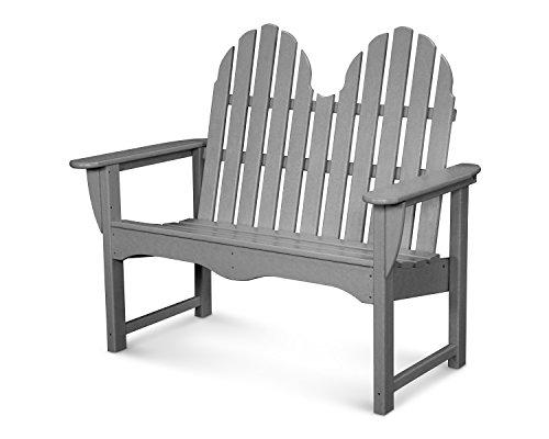 POLYWOOD Classic Adirondack Bench Slate Grey