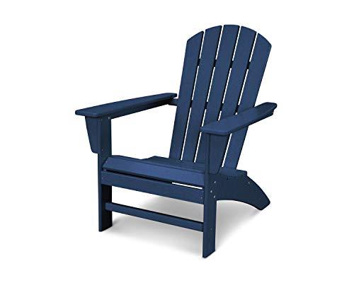 POLYWOOD Nautical Adirondack Chair Navy