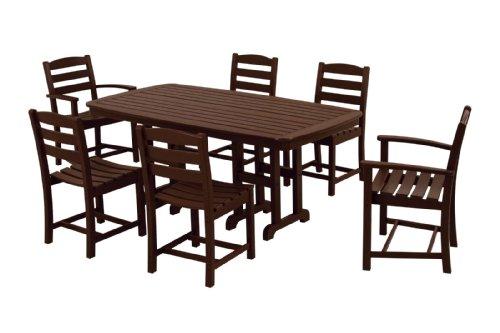POLYWOOD PWS131-1-MA La Casa Café 7-Piece Dining Set Mahogany