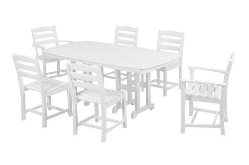 Polywood Pws131-1-wh La Casa Caf&eacute 7-piece Dining Set White