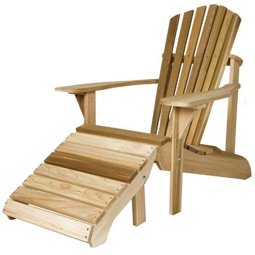 All Things Cedar Adirondack Chair with Ottoman