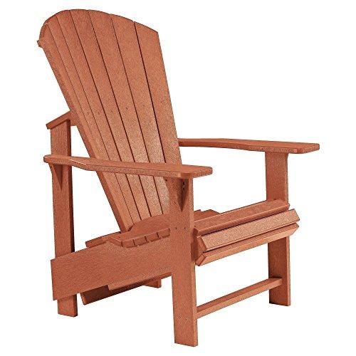 Cr Plastic Generations Upright Adirondack Chair In Cedar