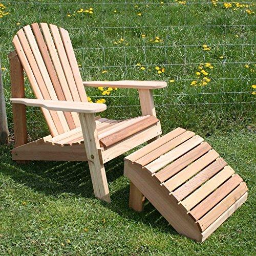 Creekvine Designs American Forest Cedar Adirondack Chair Footrest 2 pc Set