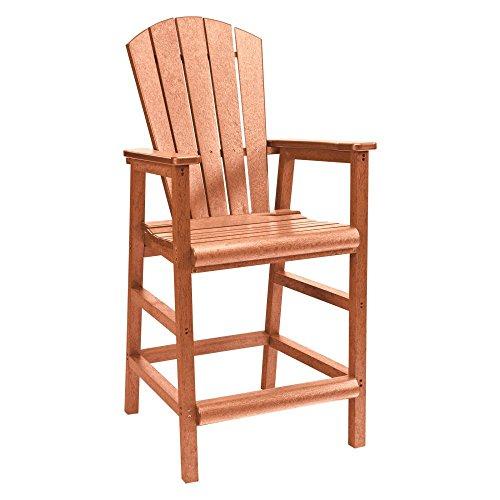 Recycled Plastic Dining Adirondack Style Pub Arm Chair Cedar 18&quotl X 18&quotw X 48&quoth