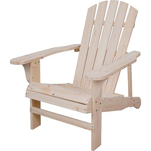 Unpainted Cedar Adirondack Chair