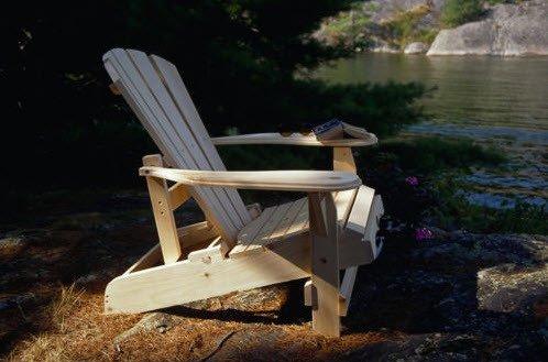 Bear Chair Reclining Adirondack Chair Kit Pine BC500P