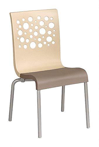 Resin Chair BeigeTaupe 21 Width 22 Depth 35-12 Height