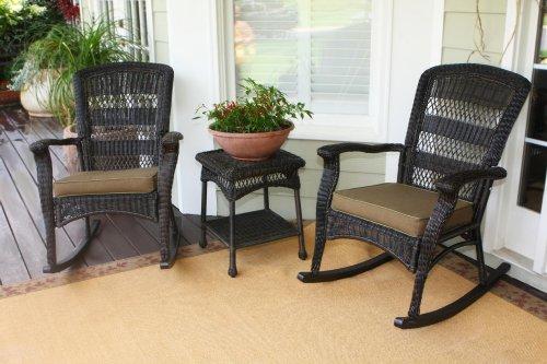 Tortuga Outdoor Plantation Rocking Chair Set - Dark Roast Psr2-p-dr
