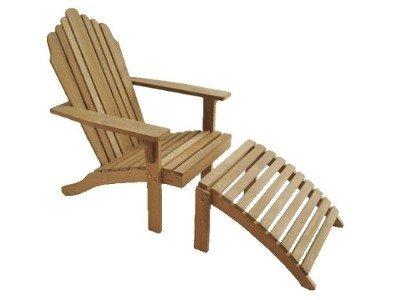 Atlanta Teak Furniture - Teak Adirondack with Footrest