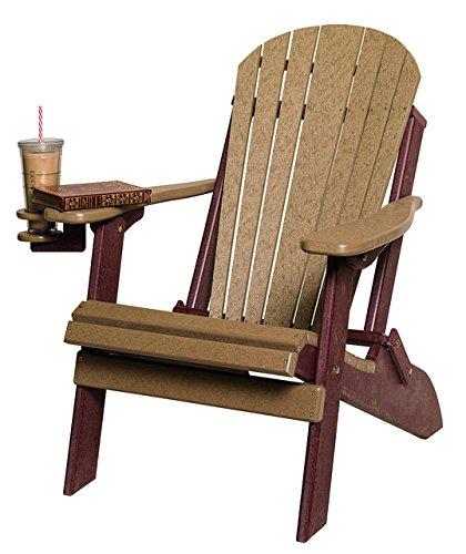 Poly Lumber Folding Adirondack Chair In Cedaramp Green - Amish Made In Usa