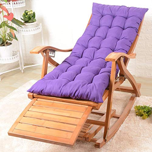 Folding Rocking Chair Deck Chair Bamboo Chair Backrest Armchair Patio Garden Sun Lounger Bedroom Living Room Nap Chair Pregnant Woman Recliner Chairs Color  BCushion