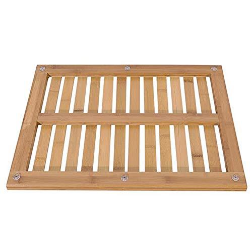 Indoor Outdoor Bamboo Bath Mat Floor Grate for Shower Bathroom Pool Sauna