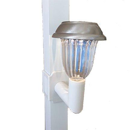 Solar Lanai Lights 1 Light Brightness 5 Lumen for Patios Screen Enclosures and Pool Cage Lighting