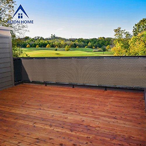 Alion Homecopy Elegant Privacy Screen For Backyard Patio Deck Balcony Fence 3x12 Mochabrown