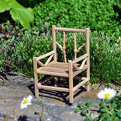 Miniature Fairy Garden Bamboo Chair