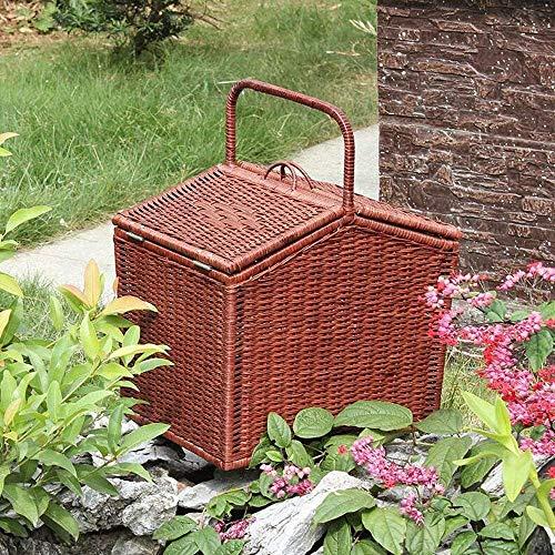 Home Living MuseumStorage Basket Rattan Garden Storage Basket Bamboo Wicker Fabric Hand Basket Snack Picnic Basket Fruit Basket Bamboo Basket