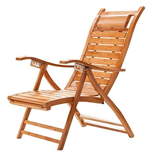 Summer Bamboo Chair Folding Recliner Chair Deck Lazy Chair Lounger Chair Elderly Balcony Chair Swing Chair Wicker Chair