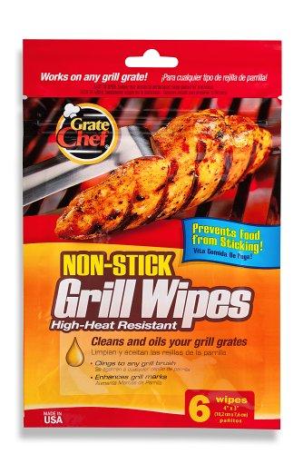 Grate Chef Non-stick Disposable Grill Wipes 6 Count